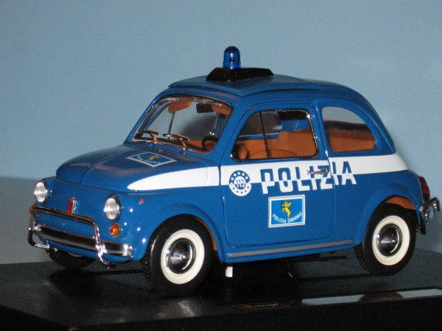 Modellino Fiat 500 Polizia - 500pedia: https://sites.google.com/site/cinquecentata/gadget-fiat-500...